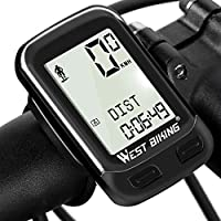 Bike Computer Wireless Waterproof Bicycle Odometer Speedometer Automatic Wake-up 22 Function Cycling Computer User A/B LCD Backlight 5 Language Displays Cycling Accessories Outdoor Exercise Tool