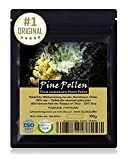 PINE POLLEN (Pinien Pollen) - Natürliche Wildsammlung | TOP-Qualität vom NR.1-Original | ISO-9001-zertifiziert | laborgeprüft auf über 20 Bestandteile | 80µm filtriert für höchste Güte | roh und unbehandelt | 100g