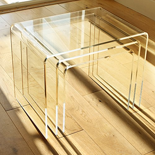 3er-set Beistelltisch Plexiglas, Acryl Klar 8mm – Nest of tables