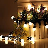 NOVALUC 20 LED Ball Fairy String Lights for Diwali Christmas Decoration (Warm White)