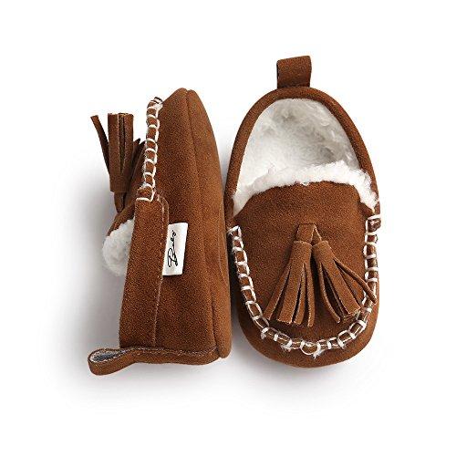 ESTAMICO , Chaussures souples pour bébé (fille) gris gris 12-18 mois Marron