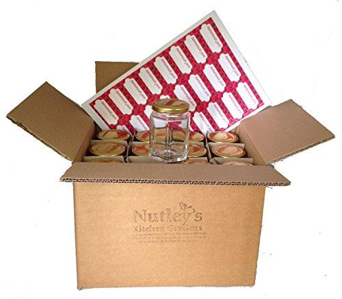 Nutley \'s 190ml Einmachgläser Marmeladengläser und Etiketten (24Stück)