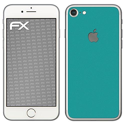 "Skin Apple iPhone 7 ""FX-Velvet-Black"" Designfolie Sticker FX-Soft-Turquoise"