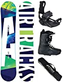 Airtracks Snowboard Set - Board AERO 153 - Softbindung Master - Softboots Star Black 43 - SB Bag