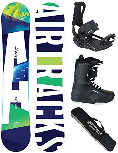 Airtracks SNOWBOARD SET - BOARD AERO 148 - SOFTBINDUNG MASTER - SOFTBOOTS SAVAGE BLACK 41 - SB BAG