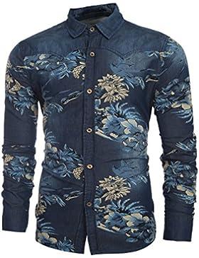 Cloud Style Hombre Verano Estilo Casual Camisas Hot Slim Fit