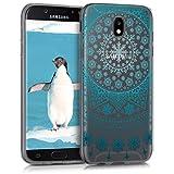 kwmobile 42906.01 Funda para teléfono móvil 14 cm (5.5') Azul, Transparente - Fundas para teléfonos móviles (Funda, Samsung, Galaxy J5 (2017) DUOS, 14 cm (5.5'), Azul, Transparente)