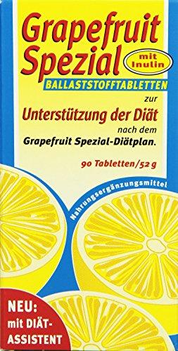 Grapefruit-diät (Grapefruit Spezial Ballaststofftabletten, 1er Pack (1 x 52g))