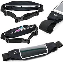 DURAGADGET Cinturón Deportivo Pecho | Cintura Para Smartphone LG G2 Mini / Meizu M2 Note / Motorola Moto E (2015) + Paño De Obsequio - ¡Es Impermeable Y Regulable!