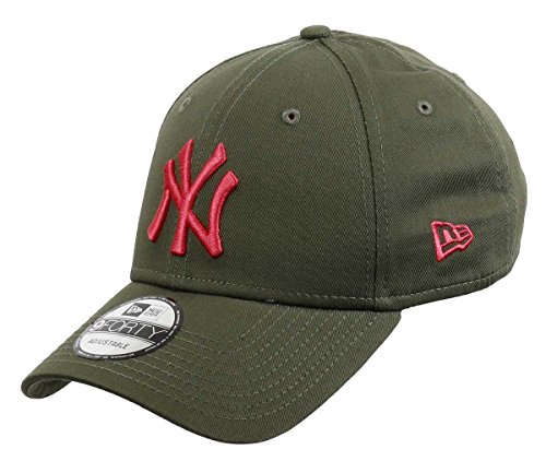 New Era New York Yankees Olive Cap Mütze Damen Kappe Für Sommer Winter Baseball Verschluss - One-Size -
