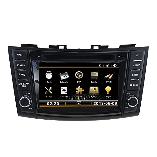 Ipod Fm Radio Remote (LIKECAR 7 Zoll 2 DIN AUTO GPS Navigation DVD Stereo Autoradio für Suzuki Swift/Ertiga mit HD Touchscreen Lenkradsteuerung Navigation Bluetooth A2DP Phone Book FM AM AUX Dual Zone 6CDC Ipod RDS USB Lenkradkontrolle 800*480 Deutsch Menu 4*45W Remote Control)