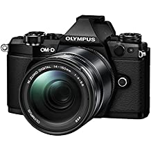 "Olympus E-M5 MarkII - Cámara EVIL de 16.1 Mp (pantalla táctil 3"", estabilizador óptico, grabación de vídeo Full HD), color negro - Kit con objetivo M.Zuiko EZ 14-150 mm f4 (importado)"