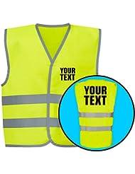 Votre Texte personnalisé Gilet haute visibilité pour enfant 4couleurs par swagwear