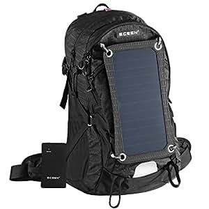 Wandern Rucksack mit abnehmbare 7W Solar-Panel-Ladegerät und 10000mAH Akku für Telefon-Lautsprecher-Tabelle