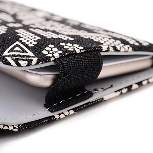 Kroo Téléphone portable Dragonne de transport étui avec porte-cartes compatible avec pour Karbonn Titanium Mach deux S360 Multicolore - bleu Multicolore - noir