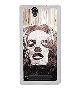 Portrait of a Girl 2D Hard Polycarbonate Designer Back Case Cover for Sony Xperia C3 Dual :: Sony Xperia C3 Dual D2502