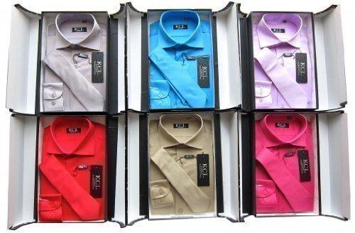 Niños camisa y corbata de camisa formal de suave y brillante de manga larga para regalo de boda/bautizo/Elegant tamaño 86 - 170