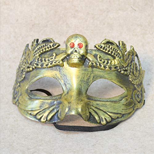 Halloween Venedig Haunted House Dress up Horror Camouflage Schutz Half Face Geprägte Muster Schädel Fun Eye Mask