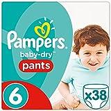 Pampers Baby-Dry Pants Größe 6, 15+ kg, Windeln, 2er Pack (2 x 38 Stück)