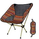 WANG Bunter Klappstuhl-Mond-Stuhl-Fischen-Stuhl-Direktions-Stuhl-Aluminiumstuhl-ultraleichte tragbare Freizeit (Farbe : Orange)