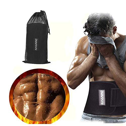 NAVANINO Fitnessgürtel Fitness Gürtel Verstellbarer Neopren Sauna Bauchweggürtel zur Fettverbrennung und zur Rückenstabilisierung (M)