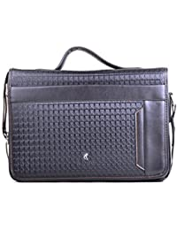 Hopping Street Black Faux Leather Men's Sling Bag