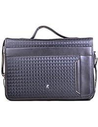 Hopping Street Black Faux Leather Men's Sling Bag