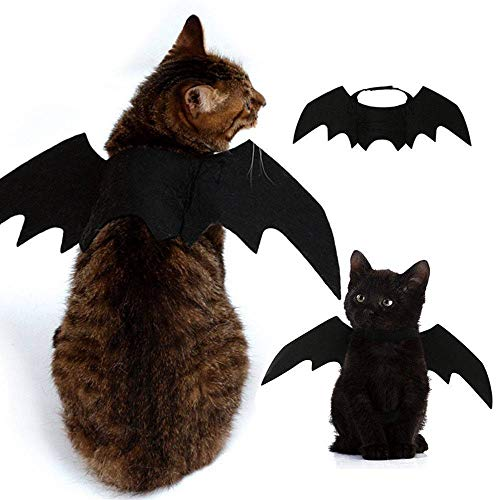 LWPCP Bat Wings Vampir Schwarz Niedlich Fancy Kleid up Halloween Pet Dog Cat Kostüm (Adler Dog Kostüm)
