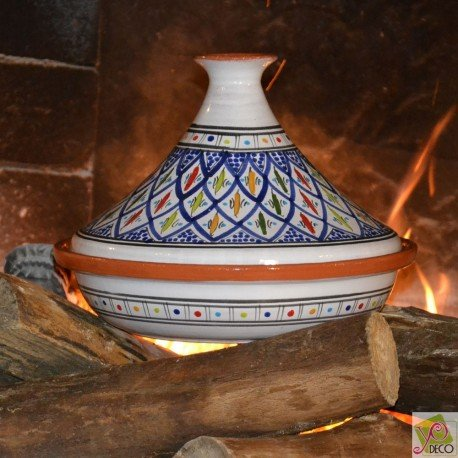 Tajine Bakir bleu - D 31 cm traditionnel