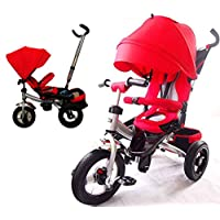Little Tiger T400 Rotating seat Reclining backrest Kids Children Child Trike Tricycle, Red