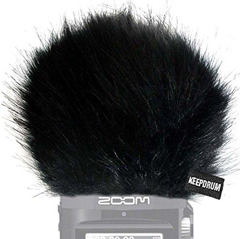 KEEPDRUM Fell-Windschutz WS-BK für Zoom H2n Handy Rekorder Digital Recorder