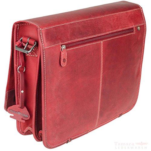 Greenburry Messenger Tasche Posttasche XL Buffalo Leder 1003_24 natur braun