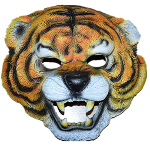 Unbekannt Mask- Kindertag Dress Up Maske COS Anime Requisiten Tiger AFFE Grün Pu Maske Wolf Kopf Maske (Farbe : A)