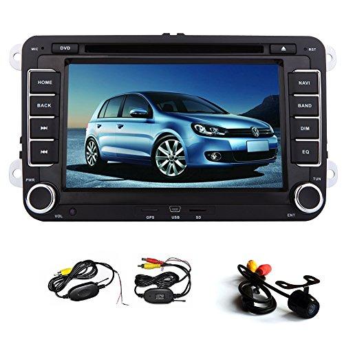 Universal 7 pouces tactile de navigation GPS š€ šŠcran Autoradio stšŠršŠo DVD Video Player pour Volkswagen VW Jetta Golf Skoda Passat Seat Autoradio + Canbu + New Win 8 UI avec camšŠra de recul sans fil GRATUIT
