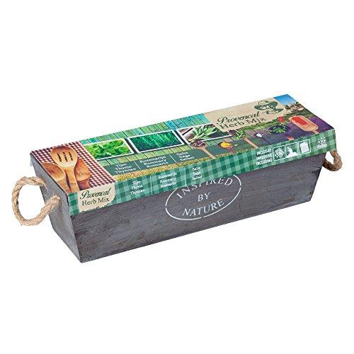 Geschenkartikel Shopping Herb Provence Herbs Seeds Mix Mix Plants Garden Grow Kit Wooden Box Gift Idea -