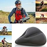AlexVyan Black Bicycle Silicone Saddle Seat & Cycling Cushion Pad Bike Gel Cover