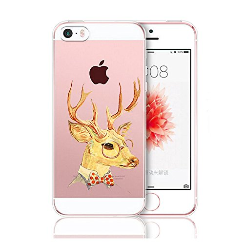 Custodia iPhone 5 Cover, iPhone 5s Clear Soft TPU Protective Case Back Cover with Cute Cartoon Pattern [Slim Fit] [Ultra Thin] for inches iPhone 5s (1) 1
