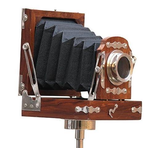 Collections acheter Royal Collection appareil photo rétro en Bois-Toboggan Art cadeau 10 cm X 10 cm X 11 cm Marron