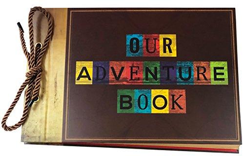 Our Adventure Book Scrapbook Fotoalbum von Blended Kraft mit Geschenk-Box–DIY Papier Mixer of Art Craft & Fotografie nachfüllbar (Foto-mixer)