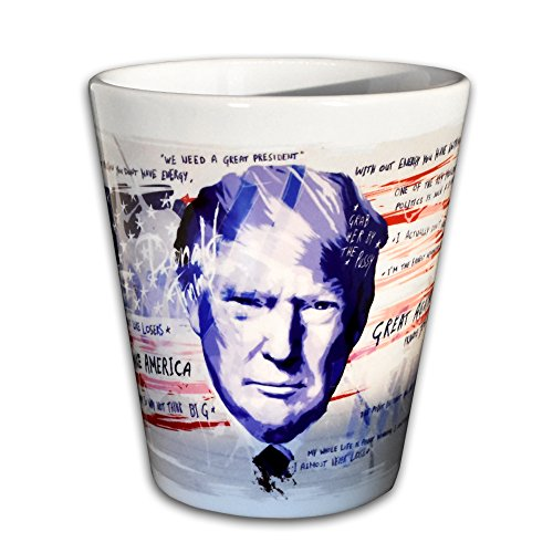 Paul Sinus Art Keramik Trump Tasse - Handarbeit Designer Tasse aus brillanten Porzellan Unikat -...