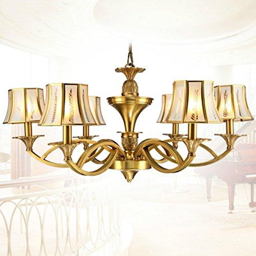 FengChandelier-Style européen tout le cuivre lampe de plafond à LED lampe de salon lampe murale à rétro rétro salle de restaurant à la maison lampe murale à 6 têtes