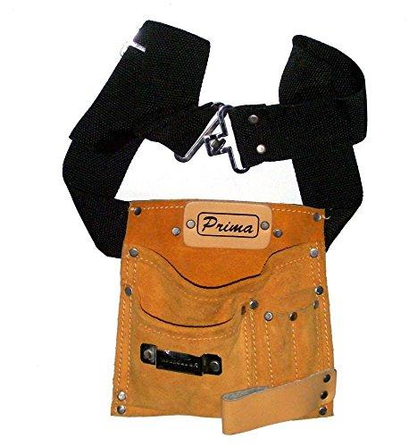 Prima Tools lps5mb Wildleder Leder Nagel Werkzeug Tasche mit 5Taschen-braun - Tasche Wildleder Leder Nagel