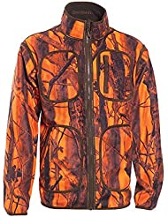 Deerhunter Gamekeeper Wendbare Fleece Jacke - Orange Blaze für Jagd und Outdoor