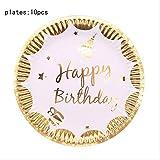 XYCC Party Birthday Party Plate Set di Decorazioni per Matrimoni Set diPosateUSA e Getta Bicchiere di CartaBicchiereFamigliaA1186