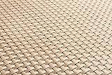 Polyrattan Balkonverkleidung Sichtschutz Balkonsichtschutz anthrazit braun weiß schwarz Kupfer grün Meterware Balkonbespannung 17,49€ / Quadratmeter (H 110cm, RD18 -hell beige)