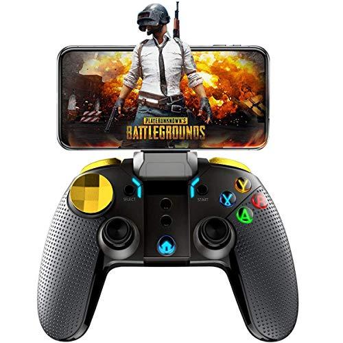 Finewlo Moblie Game-Controller für PUBG Fotnite, kabellose KeyMaping Gamepad Turbo Combo Cross Key Button Backlight Joystick für iOS Android iPad, Shooting Racing Fighting Game - Keine Plattform