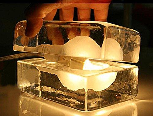 GBT Kreative Persönlichkeit Der Moderne Minimalistische Tischlampe Nachttischlampe Schlafzimmer Die Eisbar Glas (Ändern Der Kostüme Die Kunst)