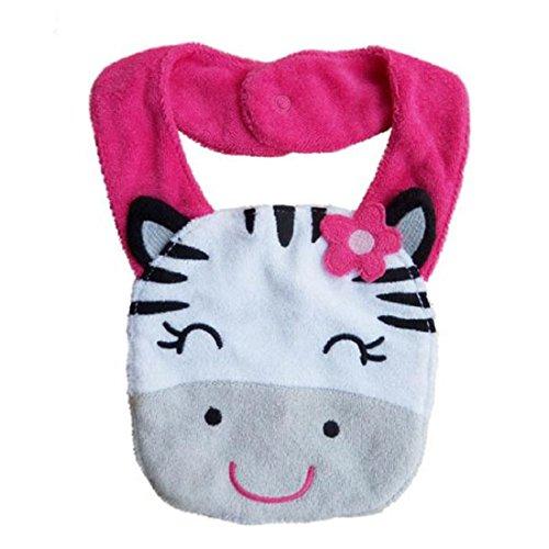 Tongshi Kids Cartoon impermeable almuerzo baberos saliva toalla babero infantil Animal vaca