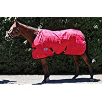 Barnsby Equestrian Horse Standard Neck Stable Rug-210D Oxford 300g Filling - Red 6'6 …