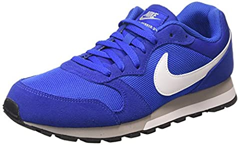 Nike Md Runner 2, Chaussures de Running homme, Azul / Blanco / Gris (Game Royal / White-Wlf Gry-White), 42.5